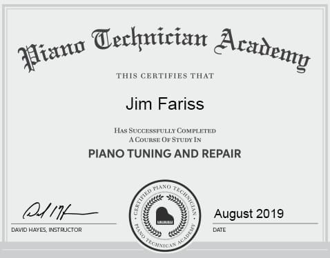 Piano Technician Academy Certification